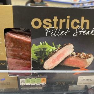 ダチョウの肉を食べるよ〜