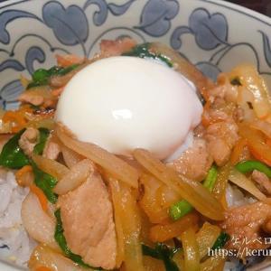 パルシステムのお料理セット「とろーり卵の豚スタミナ丼」で晩ごはん