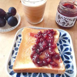 「パンにぬる小倉あん」であんバタートーストの朝ごはん