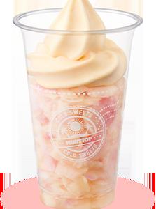 ミニストップのハロハロ白桃、桃❗️って感じで美味しい❗️