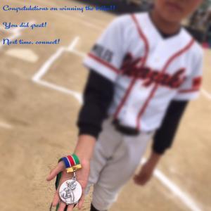 【銀メダル】長男クン、人生初のメダルですまだまだteamの為に貢献...
