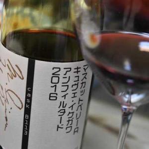 すき焼きとシャトー酒折のキュヴェ・イケガワ