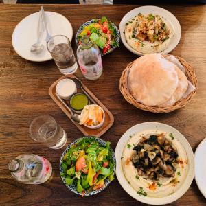 友達とランチ、中東料理を食べに