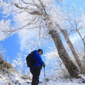 【2019年3月雪山】今シーズンラストの雪山登山!樹氷咲き誇る福井の名山「荒島岳」