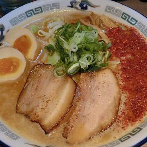 麵や 貴一 MENYA TAKAICHI (東区) 辛い豚骨(味噌) 大盛り  味玉