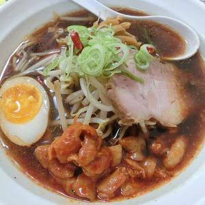 らーめん 来斗 (西区) 辛ホルモン醤油味 & 半炒飯