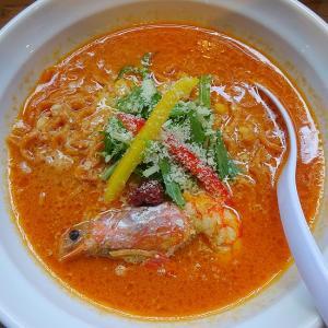 濃厚な味わいヌードル 福の樹 (中央区) 海老じゃらし 唐辛子麺 & チーズonライス