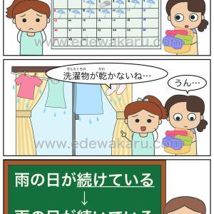 「雨の日が続けているから、洗濯物が乾かないね…」|間違った日本語