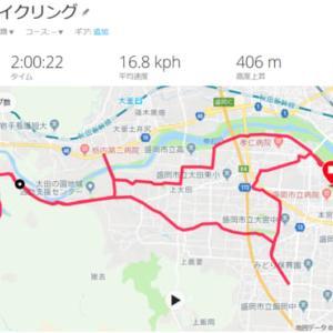 盛岡シティマラソン試走 (自転車)
