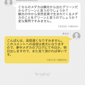 夢中の意見m(_ _)m