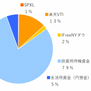 SPXL,楽天VTI,ifreeNYダウ 2019年6月分の積み立てを実行