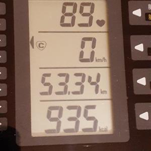 朝練85分で 935kcal