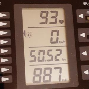 朝練は50キロ自転車走行、但し室内