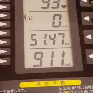 本日の朝練は80分、脈拍数無視して911kcal