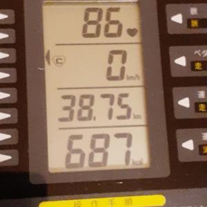本日の朝練は60分、脂肪燃焼に重点を置いて
