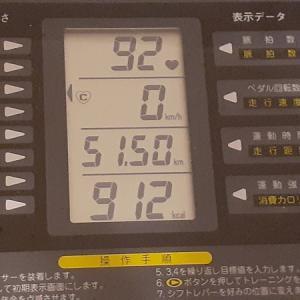 本日の朝練は80分、ちょっと控えめの912kcal