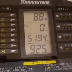 本日の朝練80分、平均時速 38.955km/h