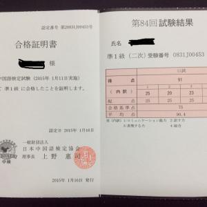 中国語検定ー2015年1月(準1級2次)