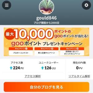 ブログ開設2000日