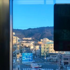 六甲山、通勤電車の車窓から