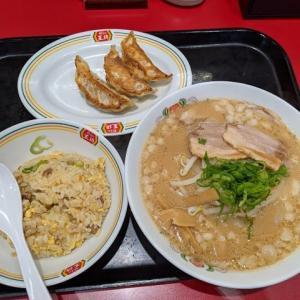 餃子の王将ラーメンセット(餃子の王将イオン千歳店:2020年142杯目)