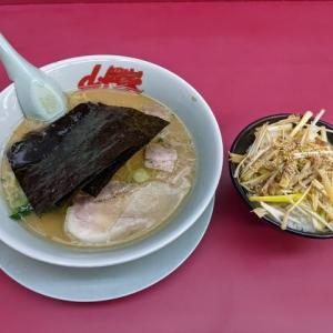 ネギ丼と醤油ラーメンコロチャートッピング(山岡家千歳店:2021年7杯目)