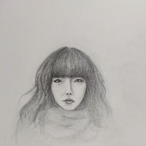 似顔絵 aikoさん  大好きな歌人