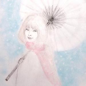 「名残の雪」描き直し