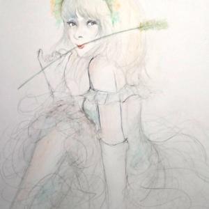 「花嫁 今描いて  ( ̄▽ ̄;)ぁ 変身したい、、」 ピエールの宴(^^;感謝作最終