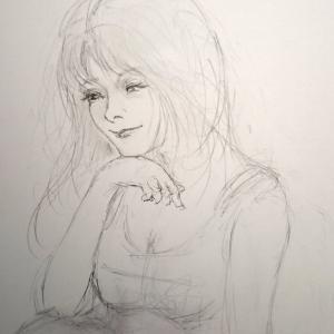 今、描いてるの~