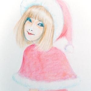 サンタコスあきみん  女装絵(^^;