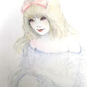 ロリータ慕情(^^;♥️   ロリータあきみん♥️   女装絵(^^;