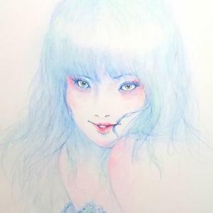 ♥️  濃い目のメイクで 妖しく 描いて溺れる