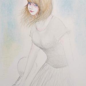"""ウチ猫描いてたら〜  """"かやばさんを描いてそして秋美になりたい(^.^;"""""""