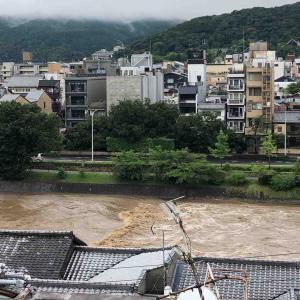 京都鴨川なのに激流