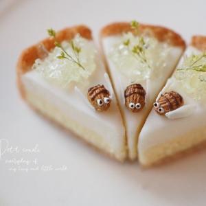 食べれる蜂のチーズケーキ