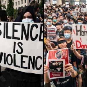 海外「アメリカのBLM運動と香港抗議は同じように語られているが実際は正反対だ」