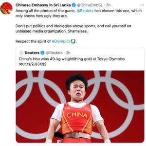 海外「中国大使館が中国選手の写真写りが悪いとロイターに文句を言っているぞwww」
