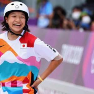 海外「日本史上最年少の金メダル!西矢椛(13歳)がスケートボード女子ストリートで優勝」