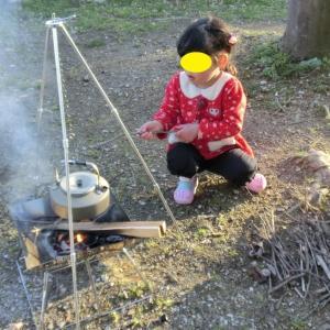 初ファミリーキャンプ 『グリーンパーク山東』 1日目その4 BBQそして就寝