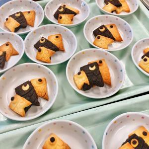 保育園行事おやつ 鯉のぼりクッキー