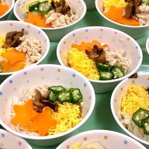 今日のメニューは七夕素麺♪