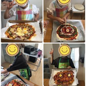 今度はママの顔のピザを作るよ♪
