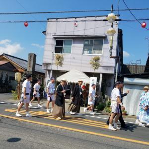 沼田祭りも猛暑の中◇頑張る 町の子宝◇お天狗様も汗だく