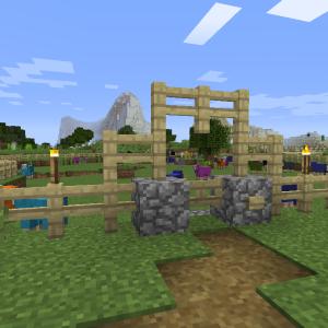 牧場の柵を改修