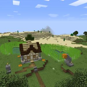 サトウキビ畑と作業小屋