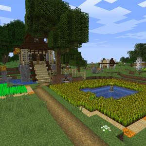 畑と農作業小屋