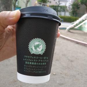 暑い昼間、外で飲むホットコーヒー(0)