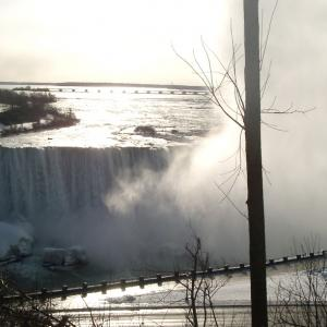 2006年2月アメリカ横断アムトラックの旅 その2 ナイアガラの滝から、アムトラックでシカゴへ。(After seeing Niagara Falls in Canada, Got to Chicago by Amtrak)
