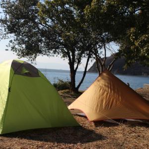 年越しキャンプで初日の出